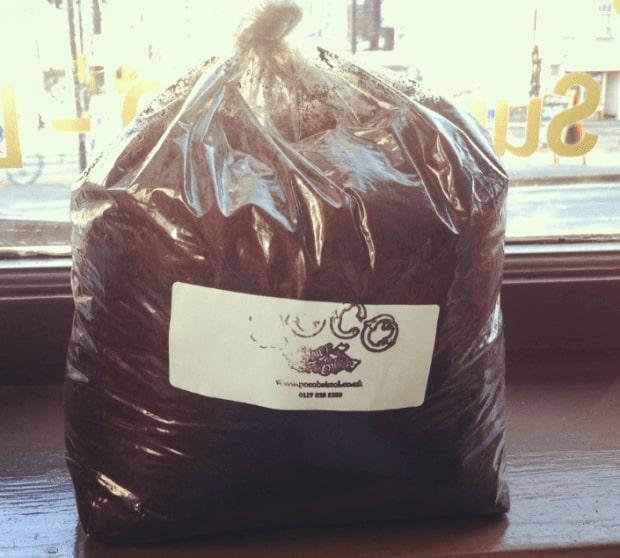 Used coffee grounds make a good nitrogen rich fertiliser
