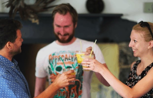Tasting my apricot daiquiri with Abel and Cole