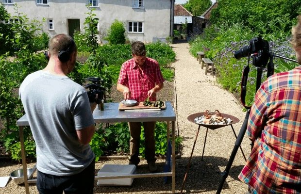 The River cottage garden is perfect for filming