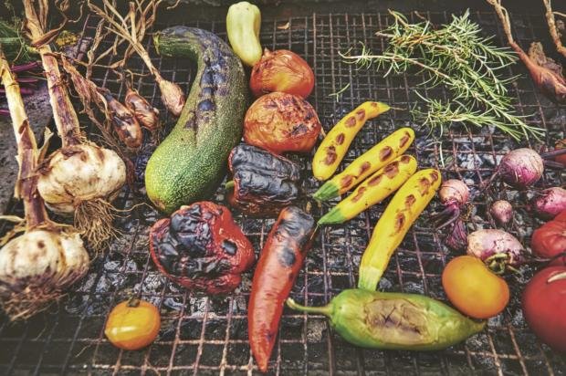 Barbecued summer veg