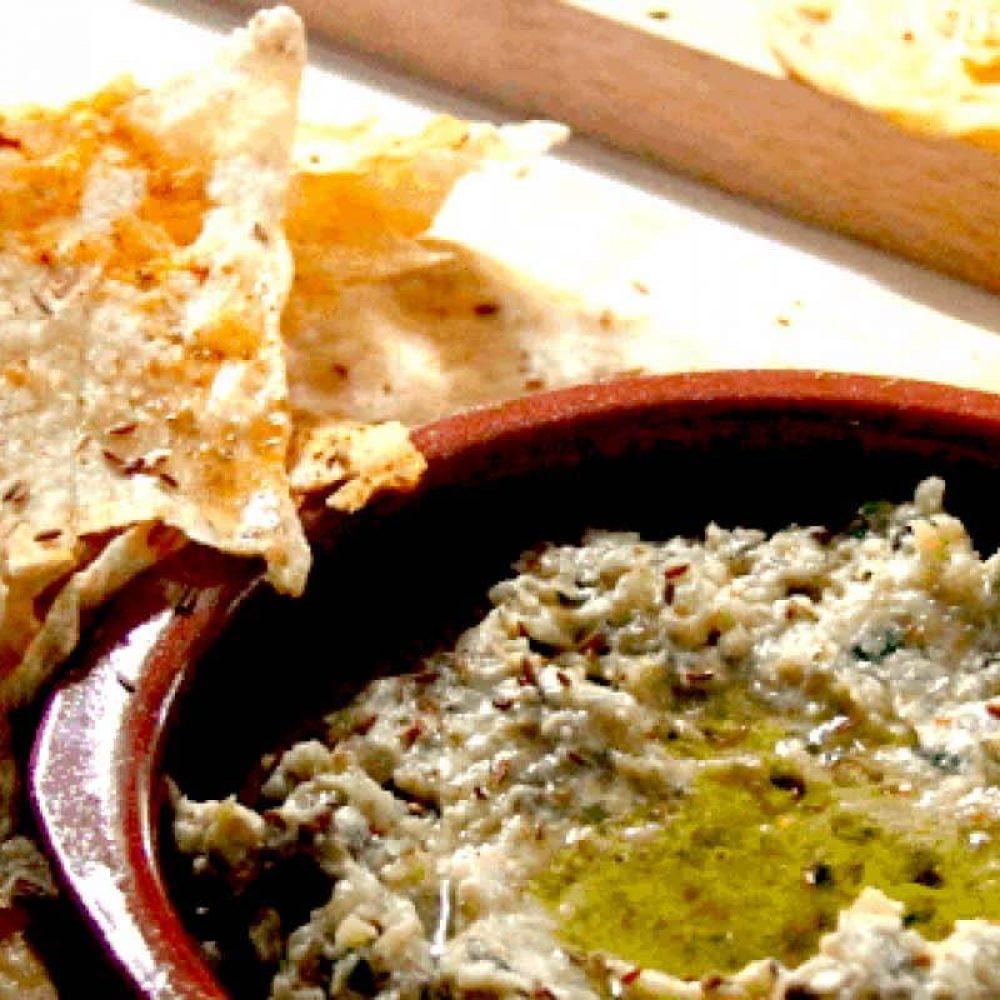 Babaganush and Homemade Flat Breads
