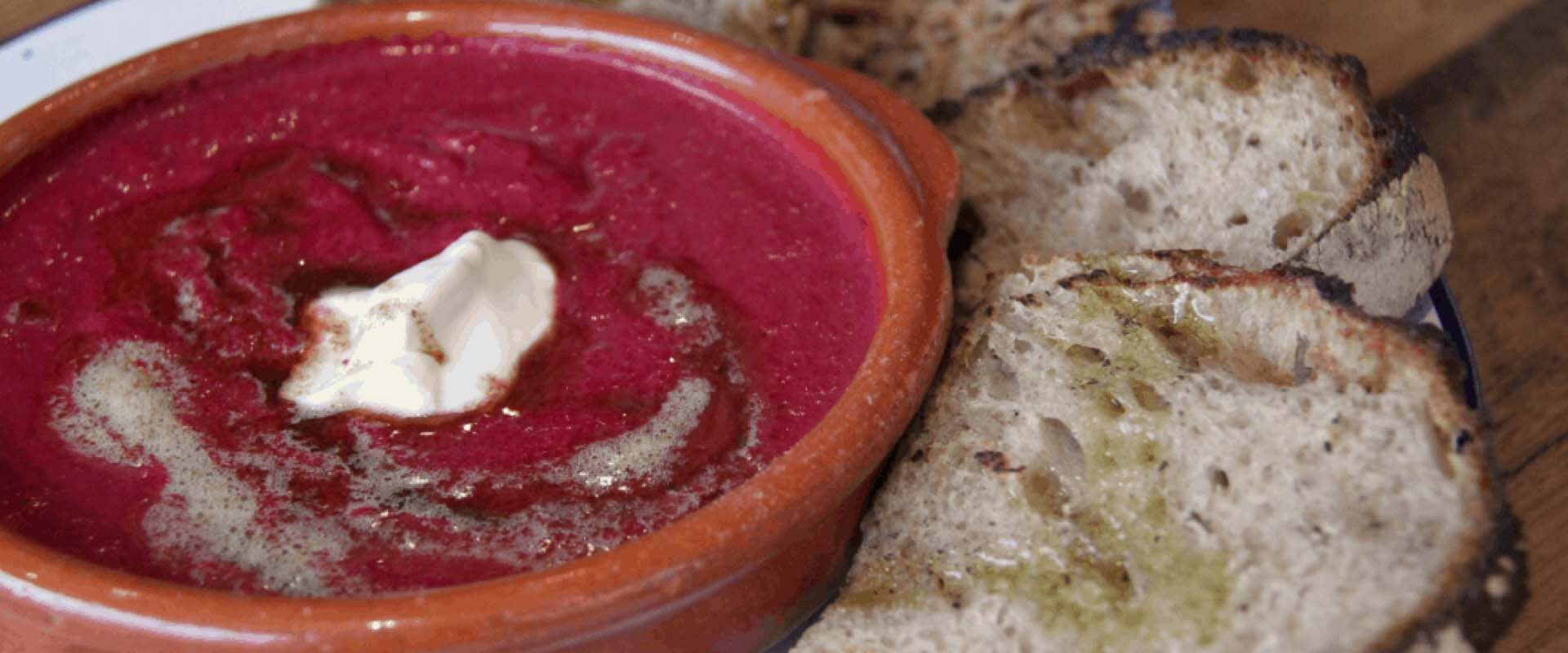 Beetroot Soup with Yoghurt and Caramelised Butter