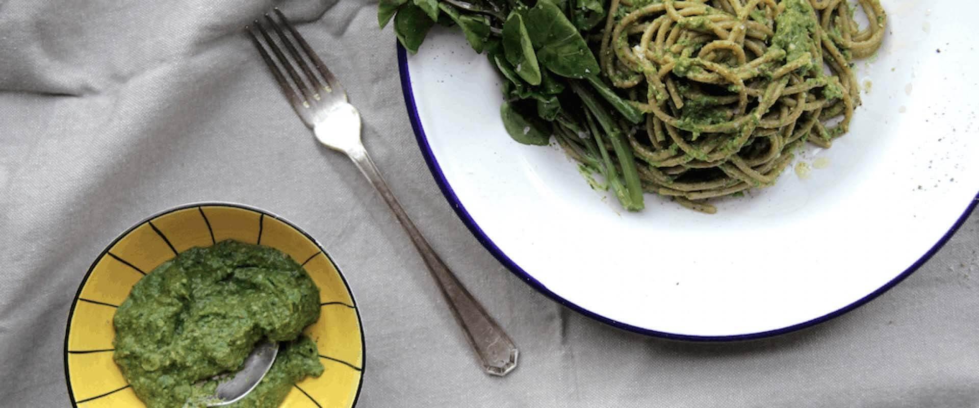 Watercress-pasta-pesto