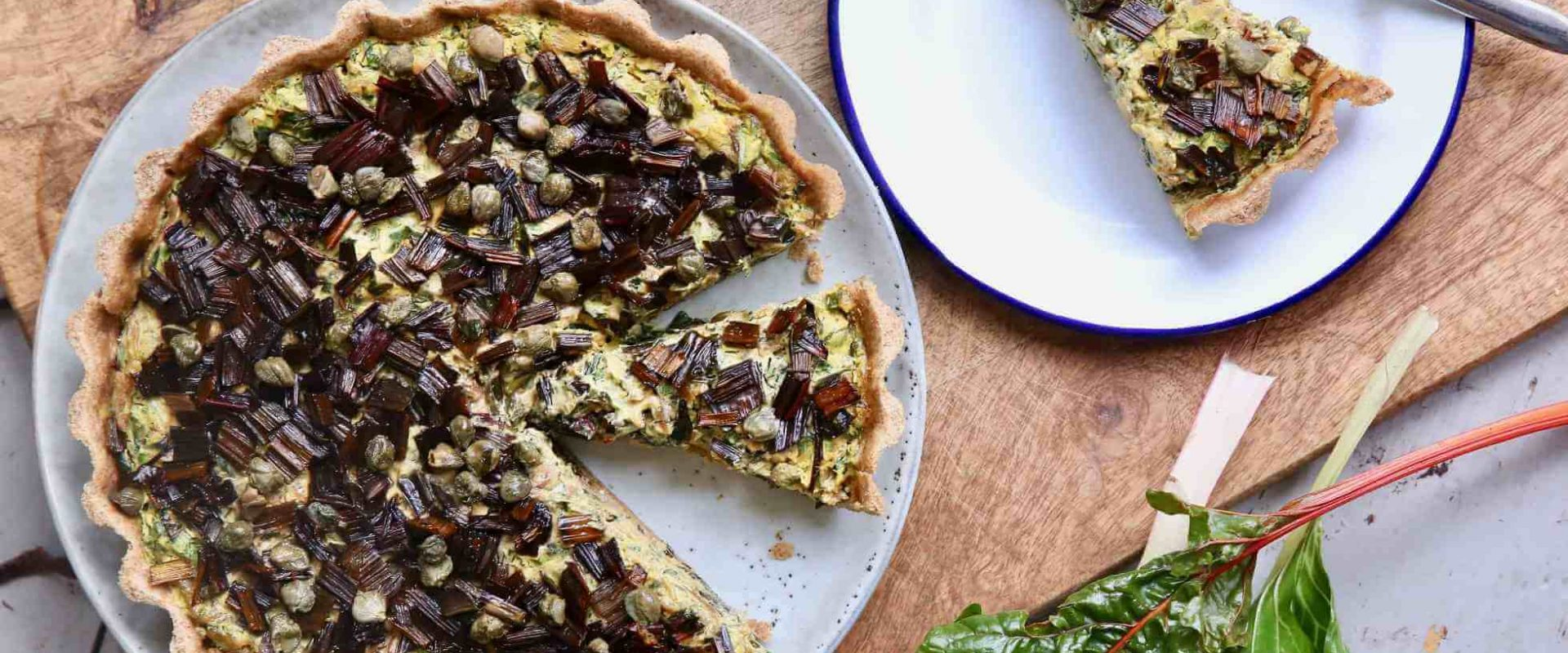 Vegan Chard and Caper Tart