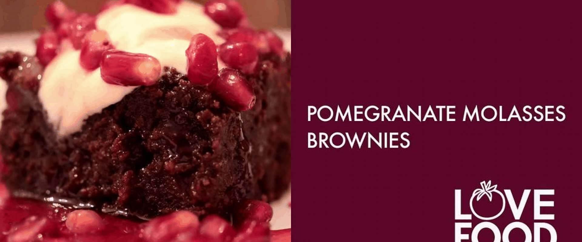 Pomegranate Molasses Brownies