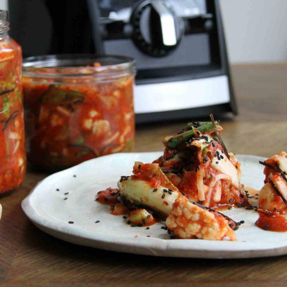 Cauliflower Leaf and Floret Kimchi